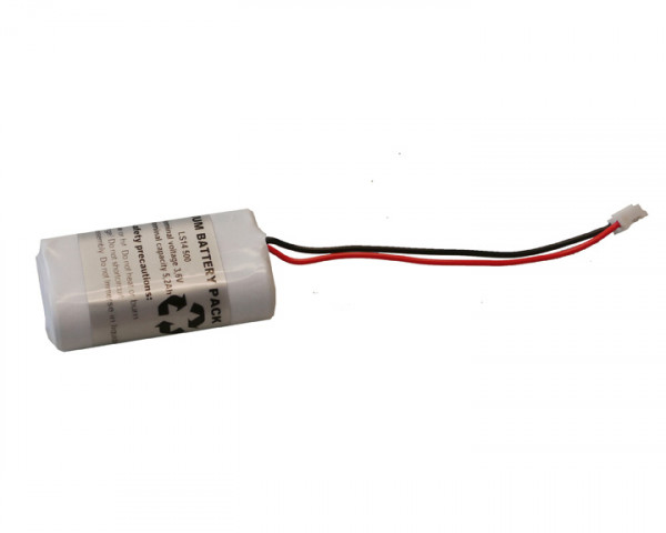 Batterij pack Lithium 2x AA cel 3.6V 5200mAh met kabel + connector Mignon