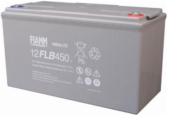 FIAMM HIGHlite 12FLB450P 12V 120 Ah AGM lood non spillable 10-12 jaar accu