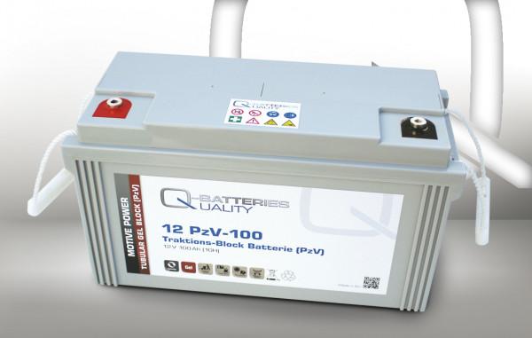 Q-Batteries 12PzV-100 Traktie Block accu 12V 100 Ah (10h) Gel Tank Plate