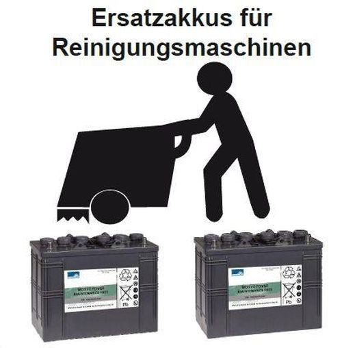vervangingsbatterij voor BR 1050 CS Ecoflex – Onderdelen nr. 80564000 Reinigingsmachine Batterij – B