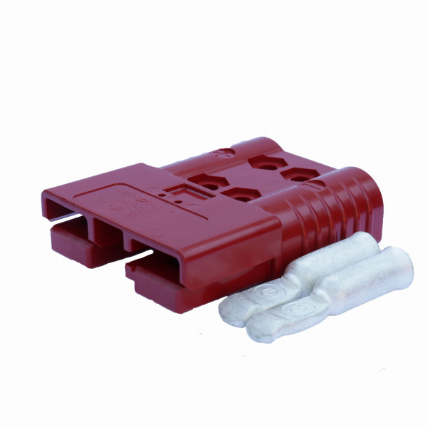Anderson platte stekker SB 120 rood, stekker incl. 2 hoofdcontacten, 24 V, 35 mm² (of vergelijkbaar