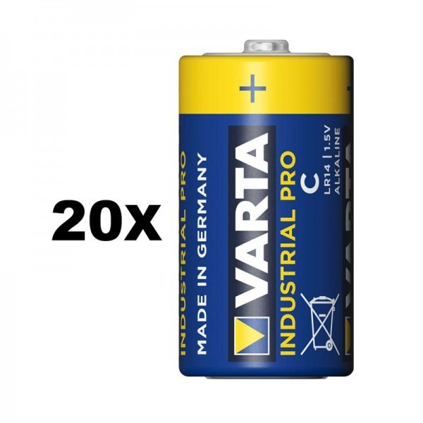 VARTA Industrial Pro Baby C batterij 4014 20 stuks.(Tray)