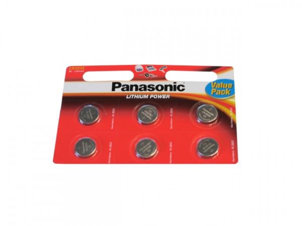 Panasonic CR2032 3V Primaire Lithium Button Cell (6 Blister) UN3090