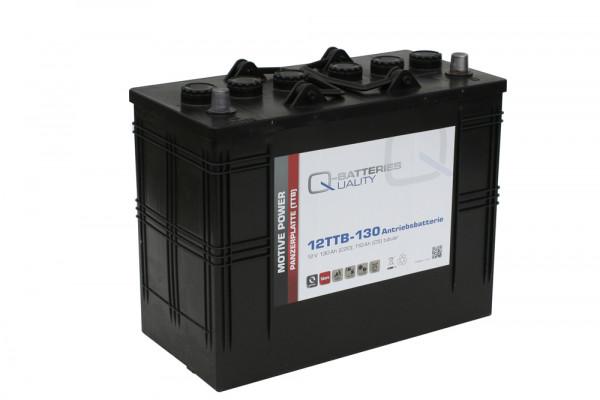 Q-Batteries 12TTB-130 12V 130 Ah (C20) gesloten blok batterij, positieve buisplaat