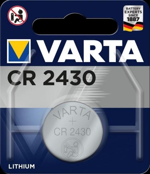 VARTA Electronics CR2430 Lithium Button Cell 3V (1 blisterverpakking) UN3090