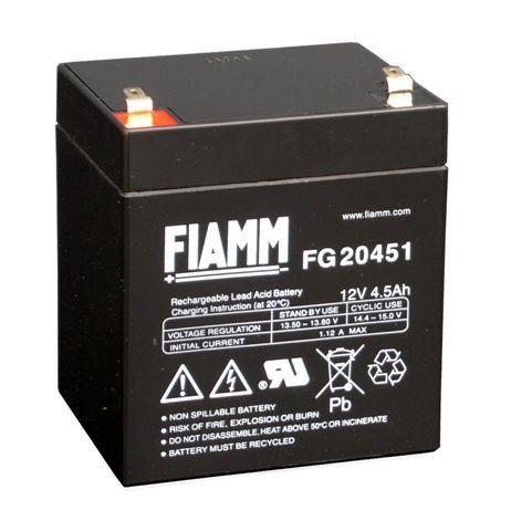 FIAMM FG20451 12 V 4,5 Ah loodaccu/loodaccu/AGM lood non spillable