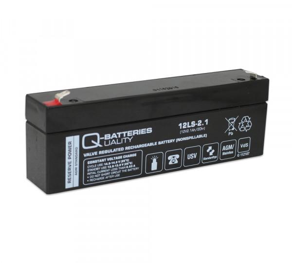 Q-Batteries 12LS-2.1 12V 2,1 Ah Lead non spillable accu/AGM VRLA VRLA met VdS