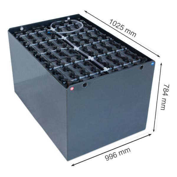 Q-Batteries 80V vorkheftruck accu 6 PzS 930 Ah DIN A (1025 * 996 * 784 mm L/B/H) caja de acero 57019