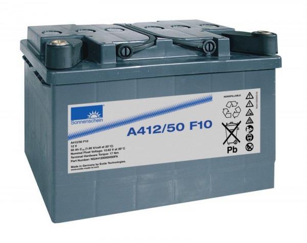 Exide sonnenschein A412/50 F10 12V 50 Ah dryfit loodgel accu VRLA
