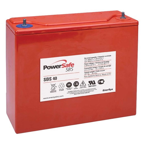 Hawker Enersys PowerSafe SBS 40 12V – 38 Ah (10h)