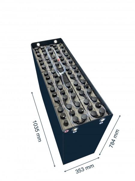 Q-Batteries 48V vorkheftruck accu 3 PzS 465 Ah DIN B (1035 * 353 * 784 mm L/B/H) caja de acero 57017