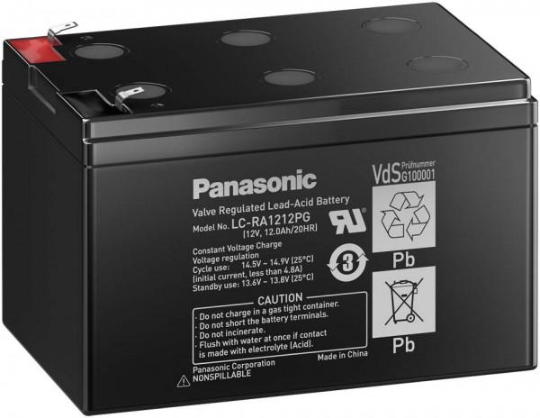Panasonic LC-RA1212PG 12V 12 Ah lood non spillable accu AGM met VdS