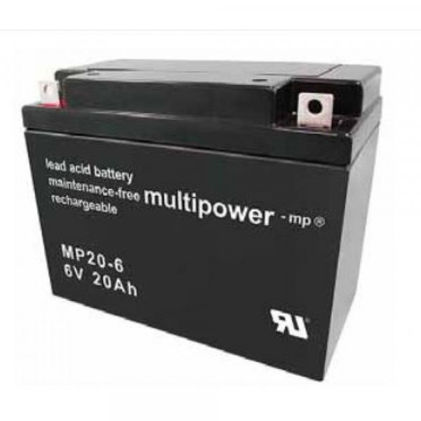 Multipower MP20-6/6V 20 Ah lood batterij AGM