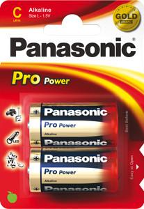 Panasonic Pro Power LR14 Baby C Alkaline batterij (2 blister)