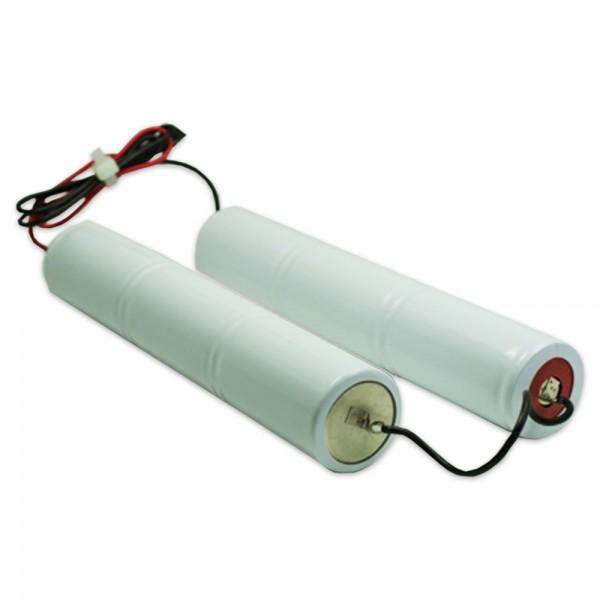 Batterijpakket 7.2V 4000mAh Rod NiCd L3+L3+10 cm Brug 6xD hoge temperatuur cellen/kabel (beide zijd