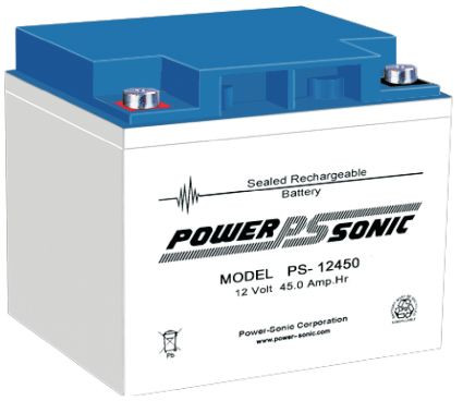 Powersonic 12V 45 Ah lood non spillable accu AGM VRLA PS 12450 VdS