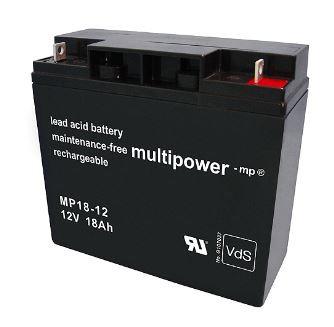 Multipower MP18-12/12V 18 Ah lood batterij AGM met VdS goedkeuring