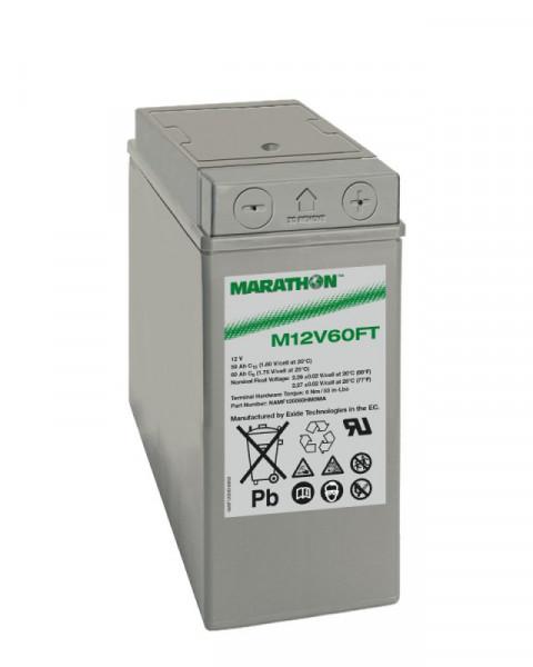 Exide Marathon M12V60FT 12V 59 Ah frontterminal AGM lood non spillable accu VRLA