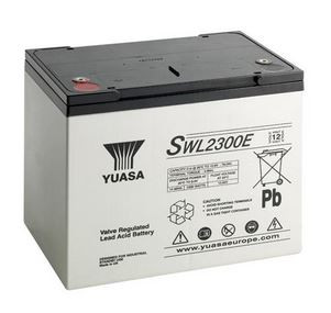 Yuasa SWL2300E 78 Ah (10h) met 2300 Watt 12V lood accu SWL serie AGM accu