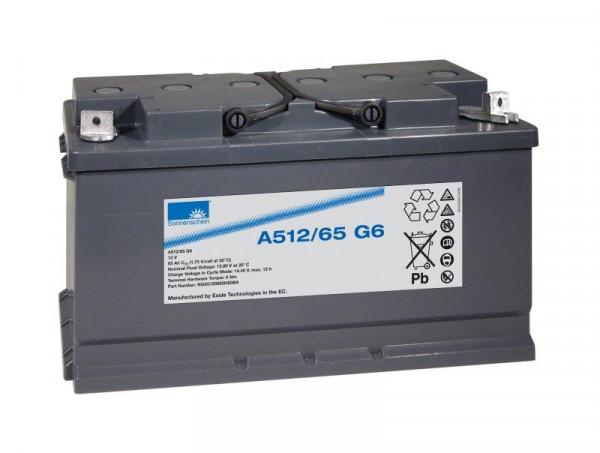 Exide sonnenschein A512/65 G6 12V 65 Ah dryfit loodgel accu VRLA
