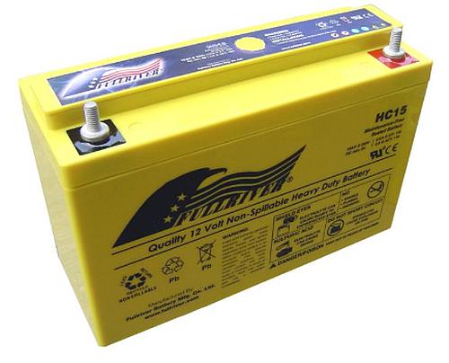 Fullriver HC15 AGM starter, batterij 12V 15 Ah 156A