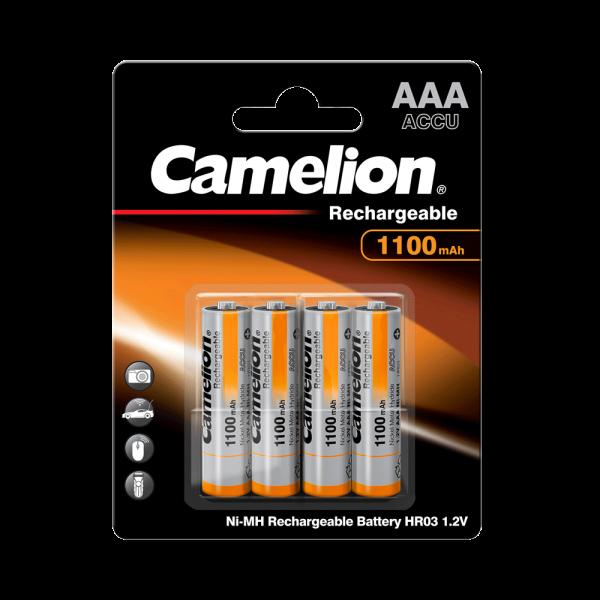Camelion Batterij Micro AAA 1100mAh NiMH (4 blisterverpakking)