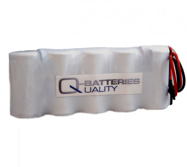 Batterij pack 6V 2500mAh serie NiCd F5x1 5xC hoge temperatuur cellen/kabel