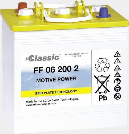 Exide Classic FF 12 085 tractiebatterij 12 Volt 85 Ah (5h) drivemobil tractiebatterij