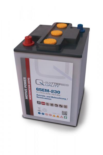 Q-Batteries 6SEM-230 6V 230 Ah Semi-Tractie accu