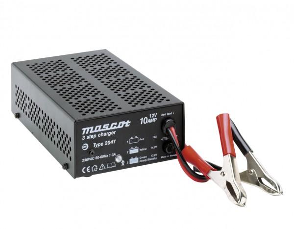 Mascotte 2047 3-Stap lader voor 12V loodbatterijen 10A laadstroom