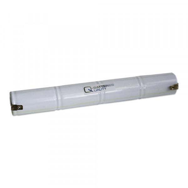 Batterij pack 4,8V 4000mAh staaf NiCd L4x1 4xD hoge temperatuur cellen Faston +6,3/-4,8 mm
