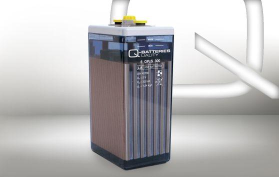 Q-Batteries 6 OPzS 300 2V 322 Ah (C10) stationaire OPzS-batterij met vloeibare elektrolyt