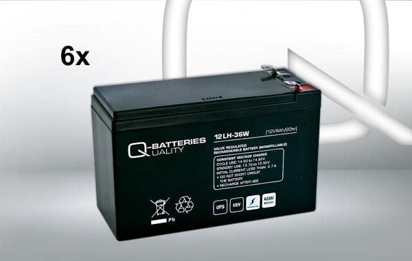 vervangingsbatterij voor Beste Power B610 Batt 1000 UPS-systeem