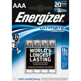 Energizer Ultimate Lithium L92 Micro AAA batterij (4 blister)