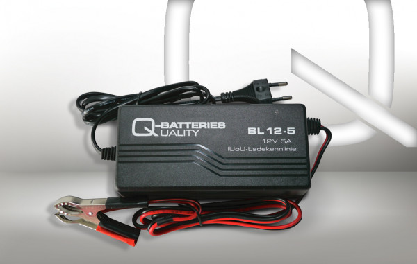 Q-Batteries BL 12-5 Charger voor lood accus 12V – 5A Charging current IU0U Charging character