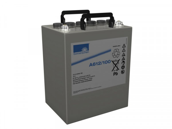Exide Sonnenschein A612/100 12V 100 Ah (C10) dryfit lead gel accu VRLA