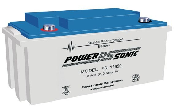 Powersonic 12V 65 Ah lood non spillable accu AGM VRLA PS 12650 VdS