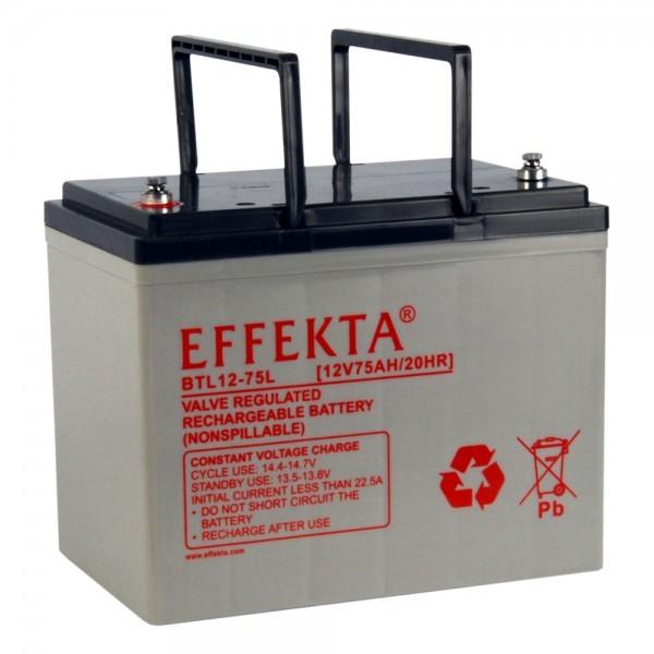 EFFEKTA BTL 12-75 12V 75 Ah loodaccu/lood non spillable accu AGM VRLA