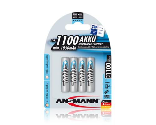 ANSMANN Battery Micro AAA 1100mAh NiMH (4 blister)