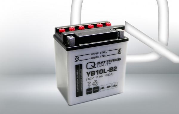 Q-Batteries Motorcycle Battery YB10L-B2 51113 12V 11 Ah 160A