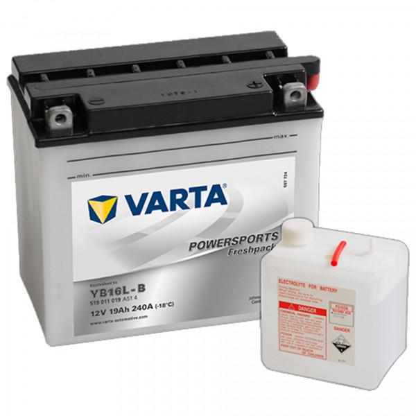 VARTA Powersports Freshpack YB16L-B Motorcycle Battery 519011019 12V 19 Ah 240A