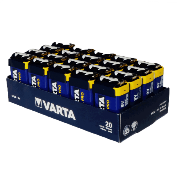 VARTA Industrial Pro 9V Block Battery 4022 20 stuks.(Tray)