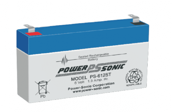 Powersonic 6V 1.3 Ah lood non spillable accu AGM VRLA PS 612ST