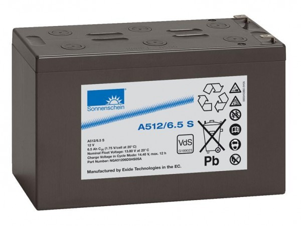 sonnenschein A512/6,5 S VdS 12V 6,5 Ah dryfit loodgel accu VRLA