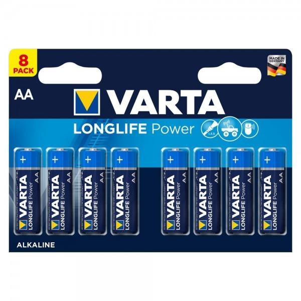 VARTA Longlife Power Mignon AA Battery 4906 LR06 (8 blisterverpakking)