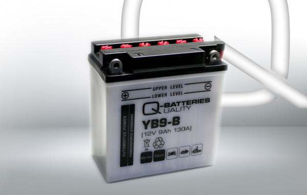 Q-Batteries Motorcycle Battery YB9-B 50914 12V 9 Ah 130A