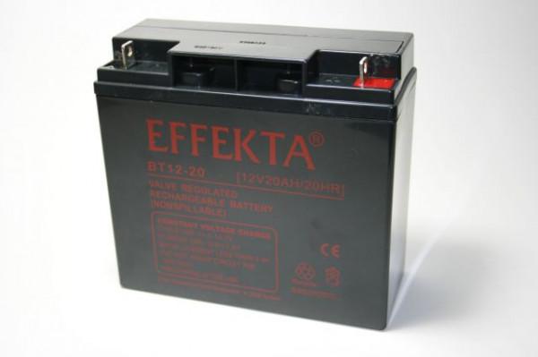 EFFEKTA BT 12-20/12V 20 Ah loodaccu/lood non spillable accu AGM VRLA