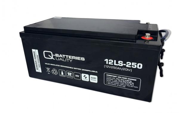 Q-Batteries 12LS-250/12V – 250 Ah loodaccu Standaard type AGM VRLA 10 jaar type