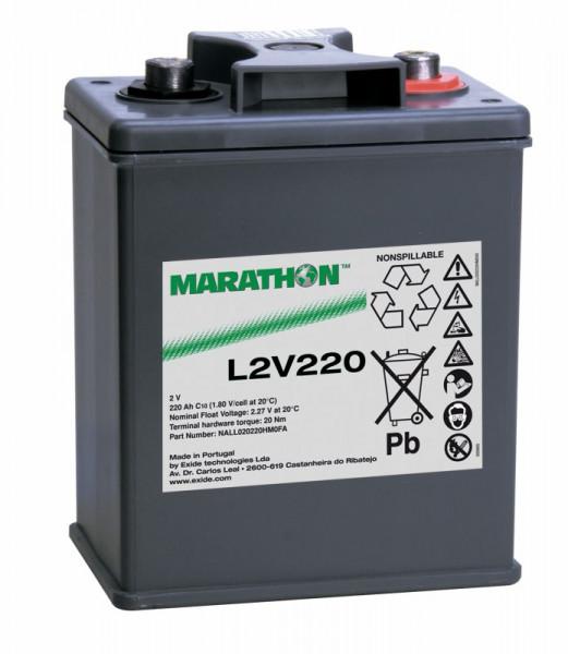 Exide Marathon L2V220 2V 220 Ah AGM loodaccu VRLA