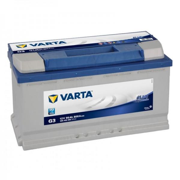 VARTA BLUE Dynamic 595 402 080 3132 G3 12Volt 95 Ah 800A/EN start accu